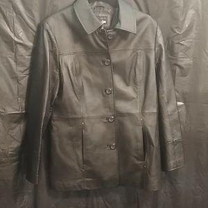 East 5th Black Leather Jacket